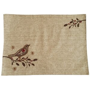 Bird on Twig Emboridery Placemat