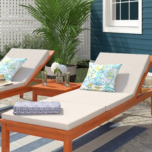 Indoor/Outdoor Chaise Lounge Cushion (Set of 2)