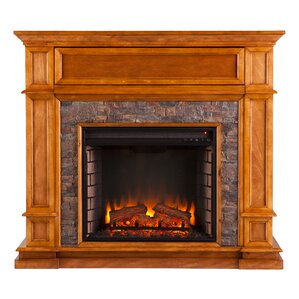 Valholl Simulated Stone Media Center Electric Fireplace by Alcott Hill