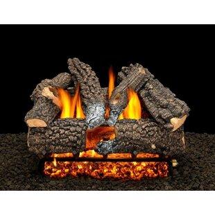 Aspen Whisper Vented Natural Gas/Propane Fireplace Log Set By American Gas Log