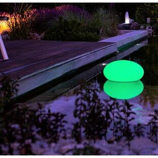 Faszcza White Solar Powered LED Outdoor Floating Light Image