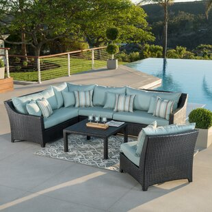 Northridge 6 Piece Rattan Sunbrella Sectional Set with Cushions