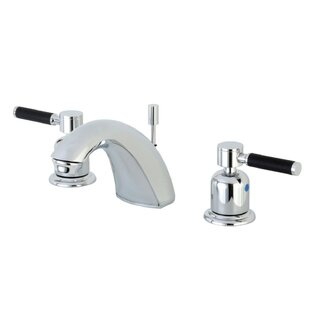Reviews Kaiser Widespread faucet Bathroom Faucet with Drain Assembly ByKingston Brass