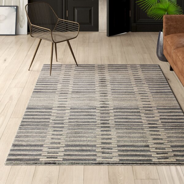 Mercury Row Criswell Handmade Tufted Wool Gray Rug Reviews Wayfair