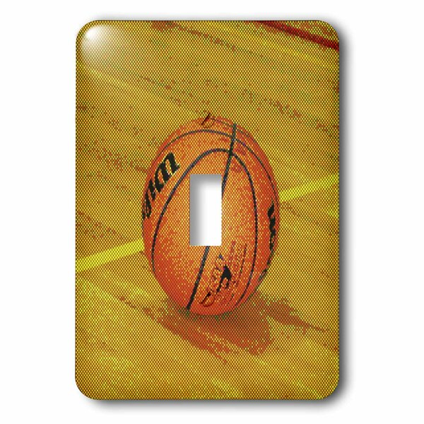 3drose Dotted Basketball On The Court 1 Gang Toggle Light Switch Wall Plate Wayfair