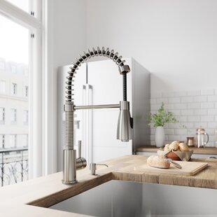 VIGO Brant Pull Down Single Handle Kitchen Faucet with Optional Soap Dispenser