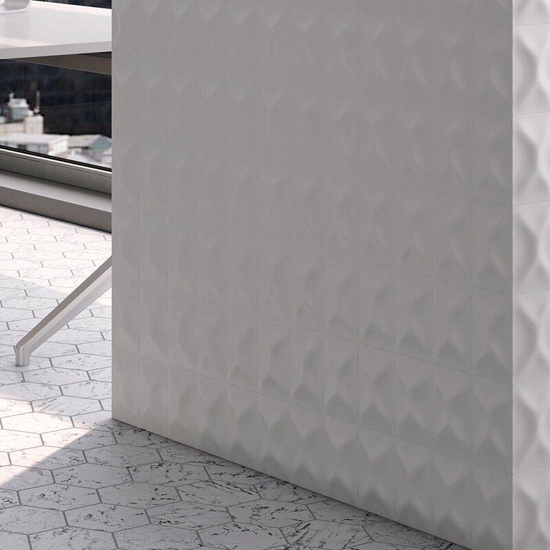 EliteTile Frena X Ceramic Field Tile In Blanco Wayfair - 4x6 white ceramic tile