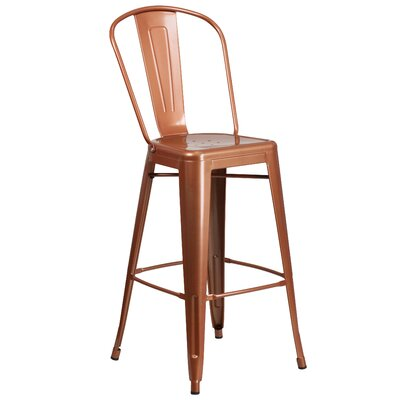 Magnificent Trent Austin Design Cercis 30 Bar Stool Color Glossy Pure Copper Squirreltailoven Fun Painted Chair Ideas Images Squirreltailovenorg