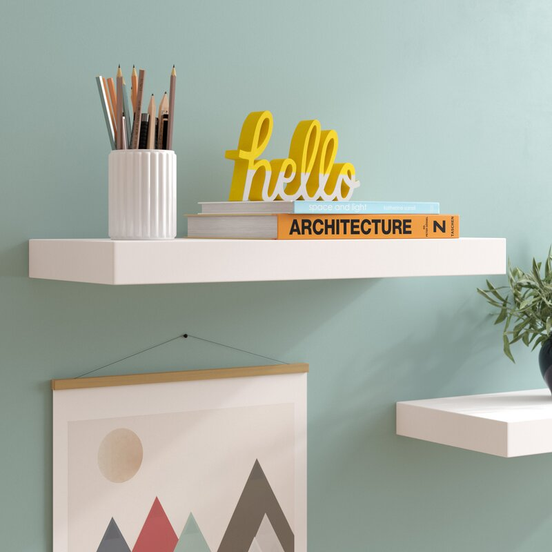 Zipcode Design Isabella Floating Shelf Reviews Wayfair Amazing How To Fix Sagging Floating Shelves