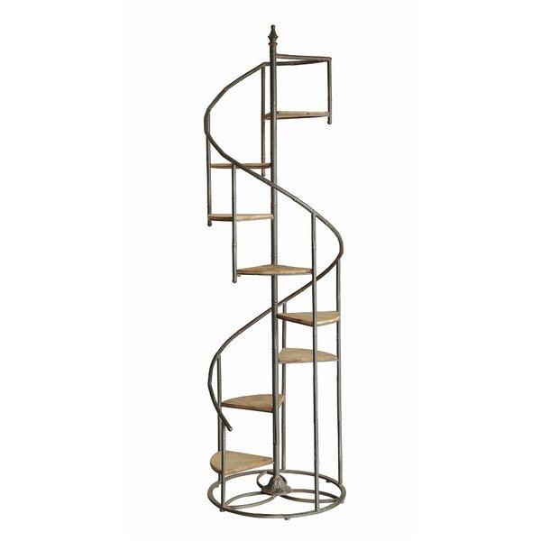 Laurel Foundry Modern Farmhouse Shauna Spiral Staircase Etagere Bookcase U0026  Reviews | Wayfair