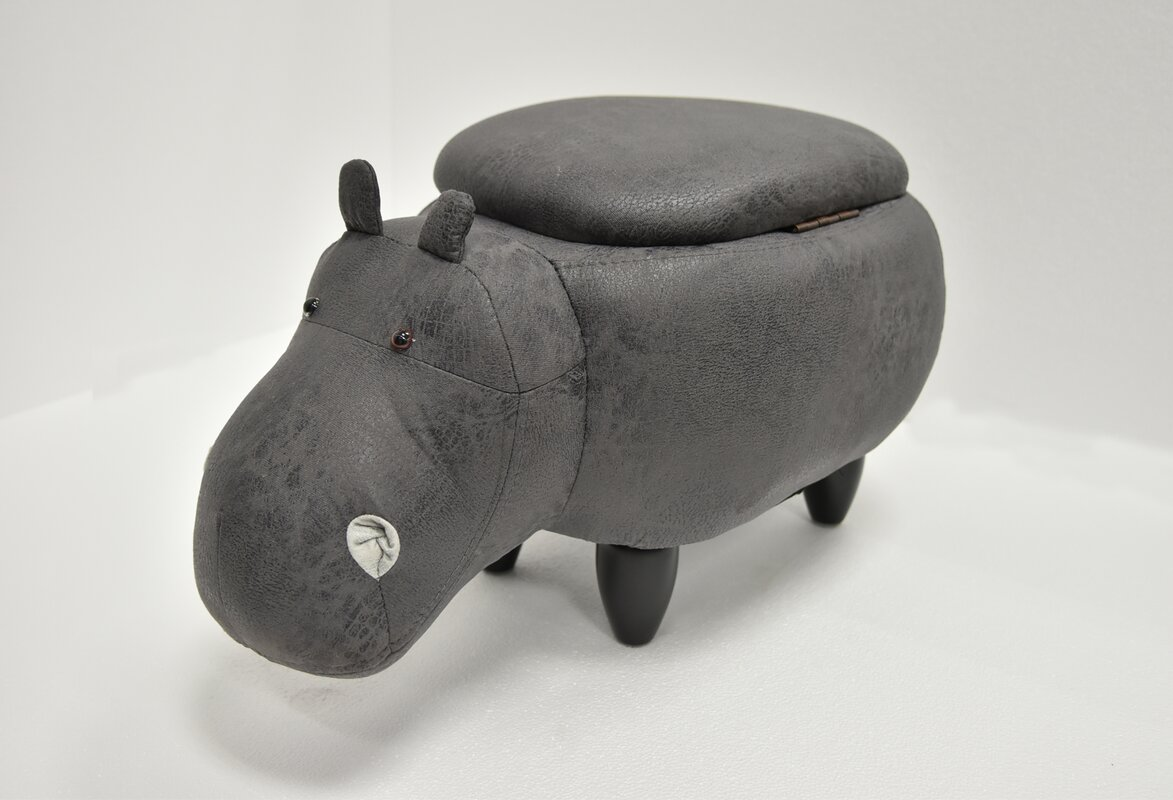 Savings Eure Hippo Animal Storage Ottoman By Harriet Bee