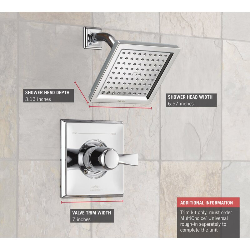 Wonderful Dryden™ Diverter Shower Faucet With Monitor