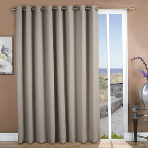 september solid blackout thermal grommet single curtain panel