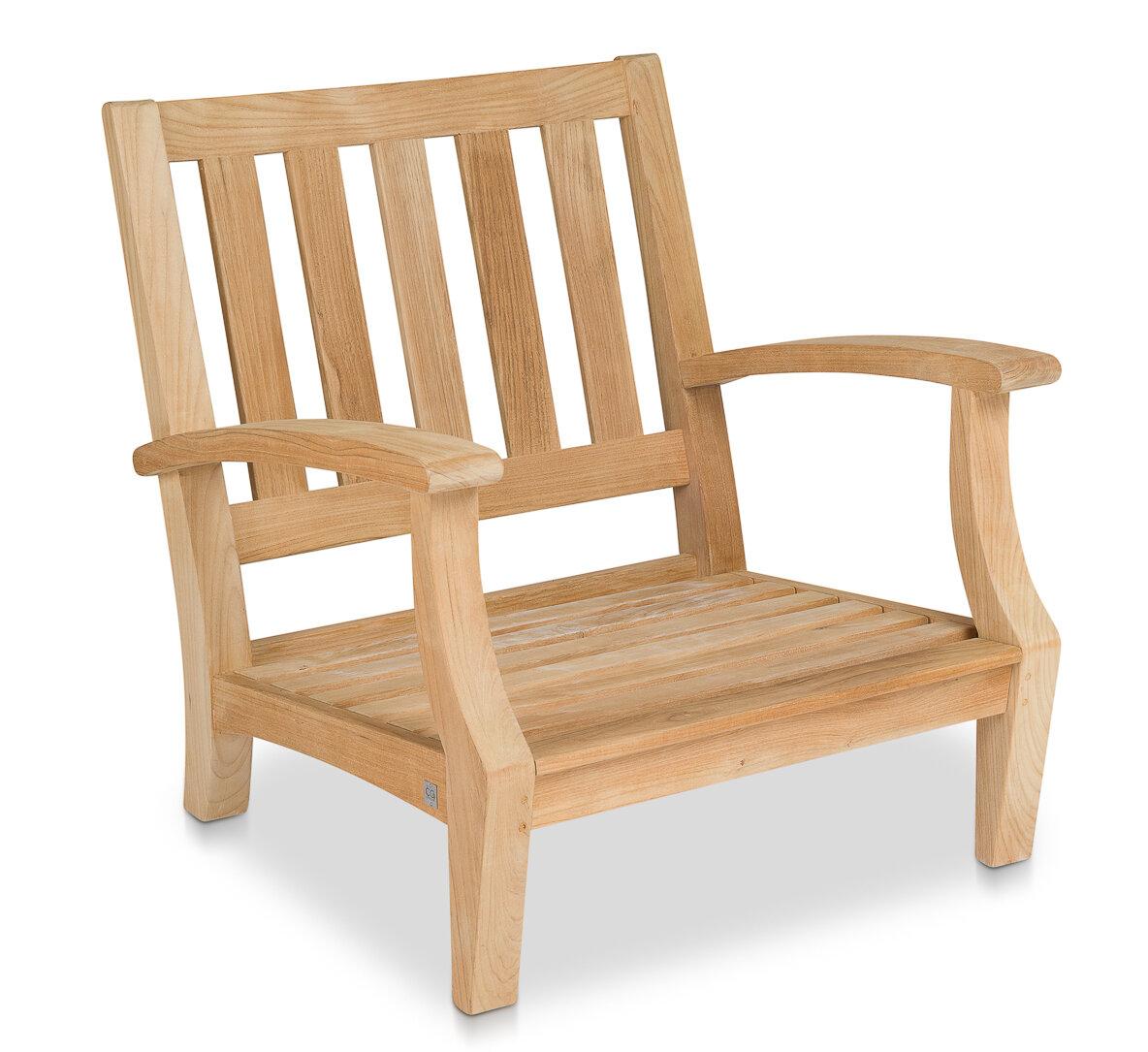 Rosecliff Heights Robert Club Teak Patio Chair With Cushions Wayfair
