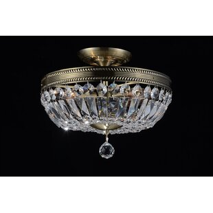 Cornelius 3-Light Semi Flush Mount by CWI Lighting
