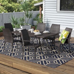 Durham Urena Wicker 7 Piece Dining Set