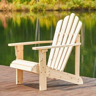 Beachcrest Home Cordelia Solid Wood Adirondack Chair