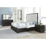 Blairstown Upholstered Solid Wood 4 Piece Bedroom Set by Everly Quinn