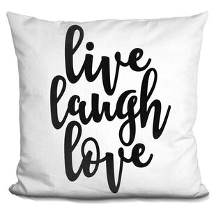 He Live Laugh Love Throw Pillow
