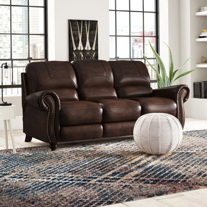 Wondrous Tanguay Leather Reclining Sofa Short Links Chair Design For Home Short Linksinfo