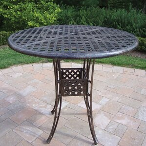 Exceptional Thelma Cast Aluminum 42 Inch Bar Table
