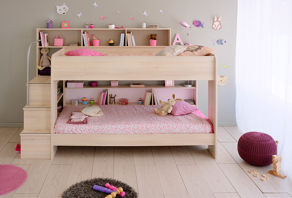Isabelle & Max Lacluta 2 Twin over Twin Bunk Bed with Trundle