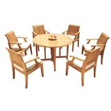 Camren 7 Piece Teak Dining Set