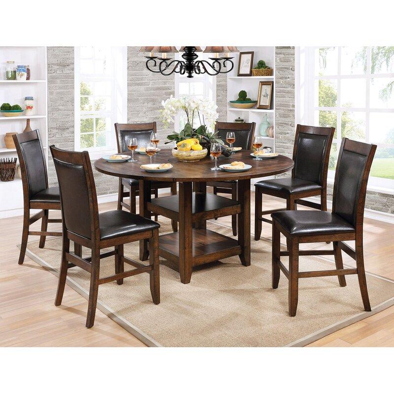 Loon Peak® Herbert 7 Piece Counter Height Drop Leaf Dining Set   Wayfair