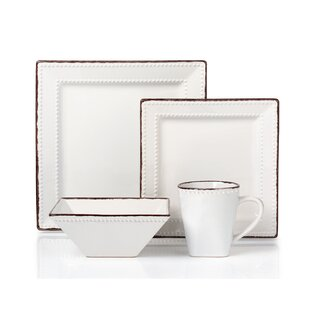 Save to Idea Board  sc 1 st  Wayfair & White Beaded Dinnerware Set | Wayfair