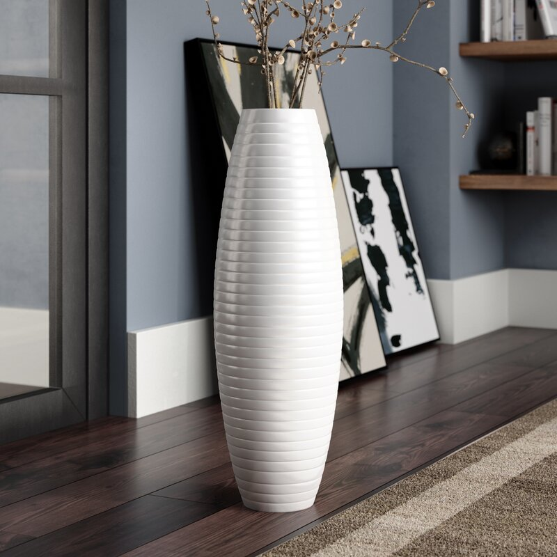 Orren Ellis Stinchcomb Ceramic Floor Vase Reviews Wayfair