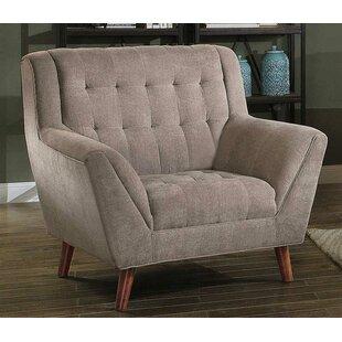 Latitude Run Amos Upholstered Flared Wood/Fabric Armchair