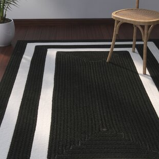 Marti Hand-Woven Indoor/Outdoor Black Area Rug