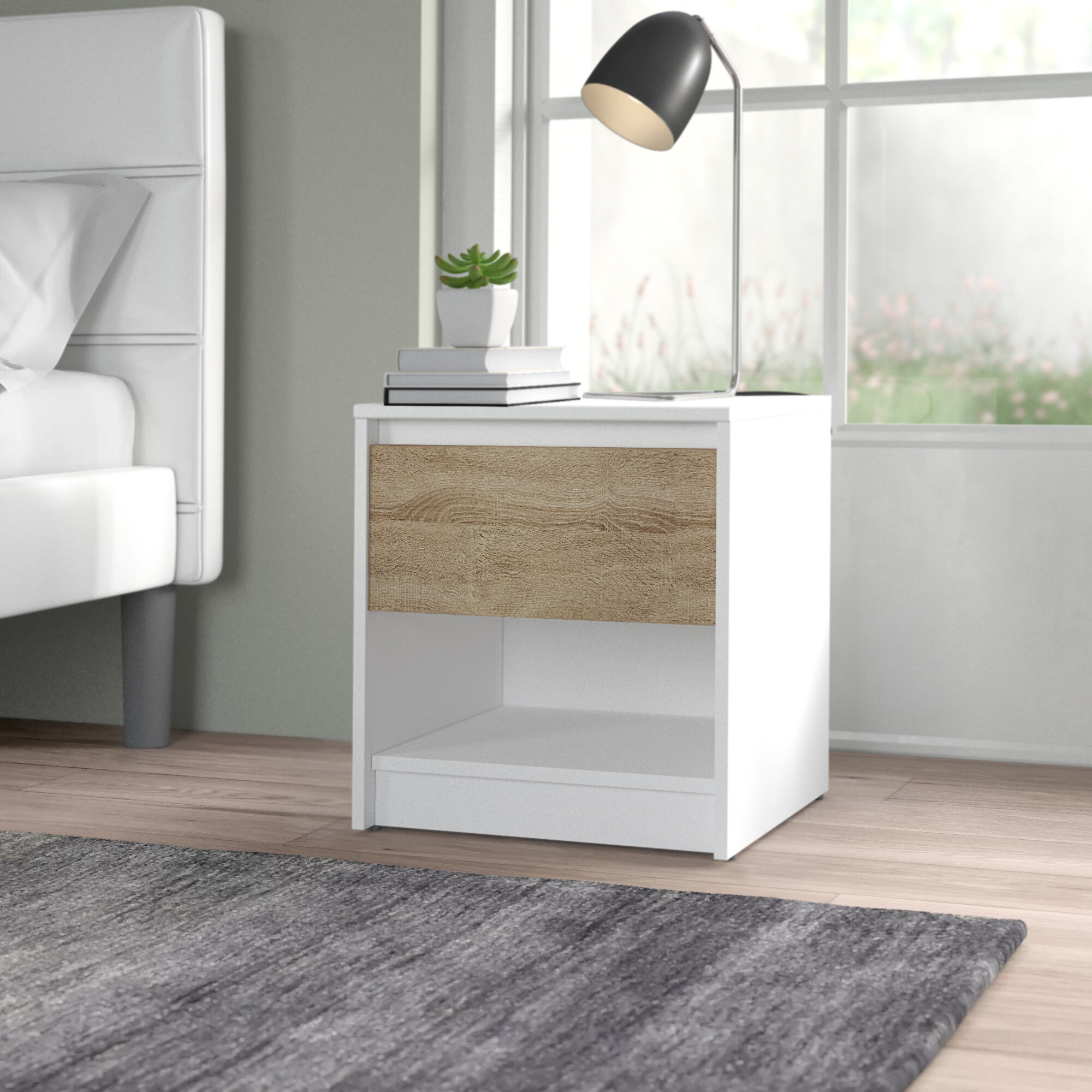 Urban Designs Wenecja 1 Drawer Bedside Table Reviews Wayfair Co Uk