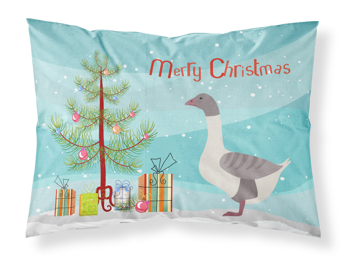 East Urban Home Back Goose Christmas Pillowcase Wayfair