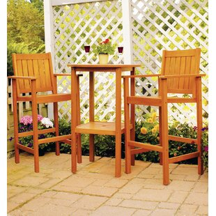 Eucalyptus 3 Piece Bar Height Dining Set ..