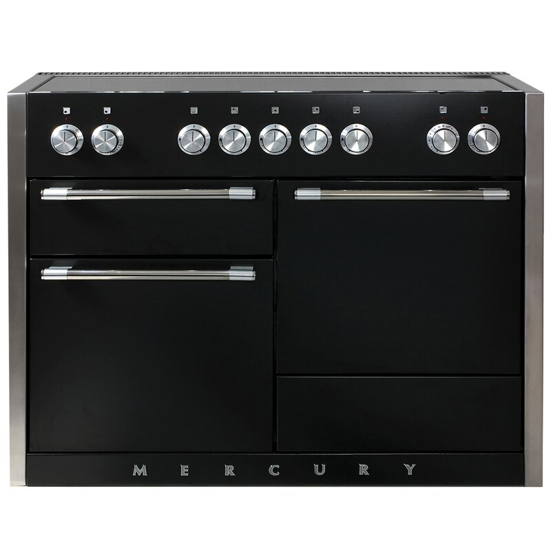 "AGA Mercury 48"" Free-Standing Electric Range  Finish: Matte Black"