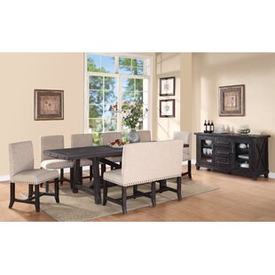 Gaudette 8 Piece Extendable Solid Wood Dining Set