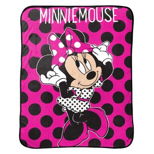 Disney Minnie Mouse Dots are the New Black Plush Throw 11e37c9bf