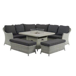 Ridgewood 9 Seater Rattan Corner Sofa Set Image