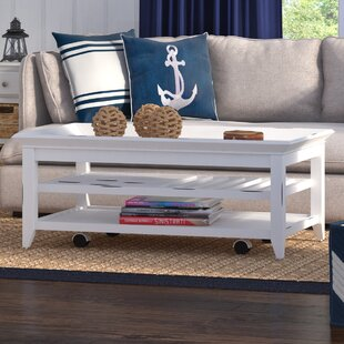 Cliffside Coffee Table with Tray Top byBeachcrest Home