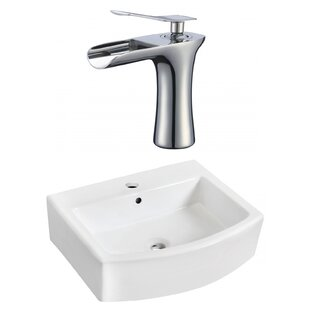 Check Prices Above Counter Ceramic Rectangular Vessel Bathroom Sink with Faucet and Overflow By Royal Purple Bath Kitchen