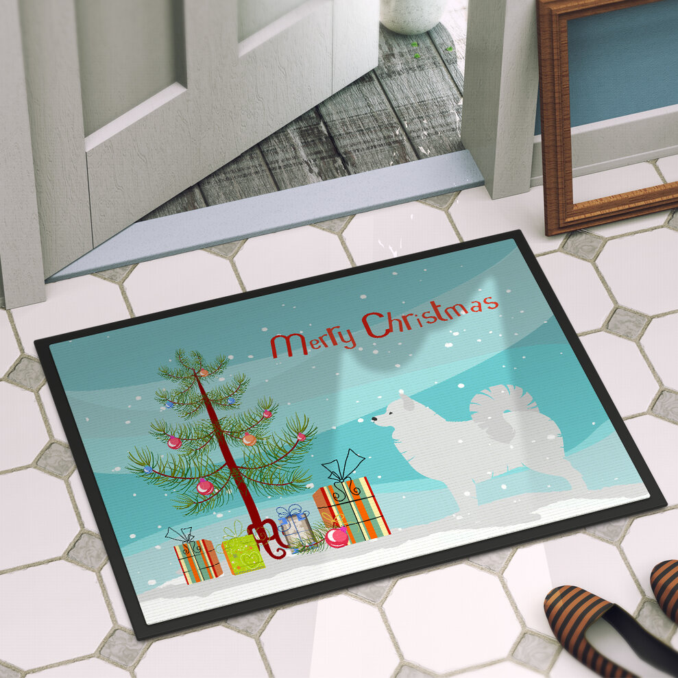 The Holiday Aisle Samoyed Door Mat | Wayfair