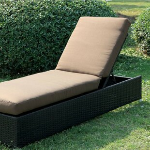 Bendoski Contemporary Patio Chaise Lounge with Cushion