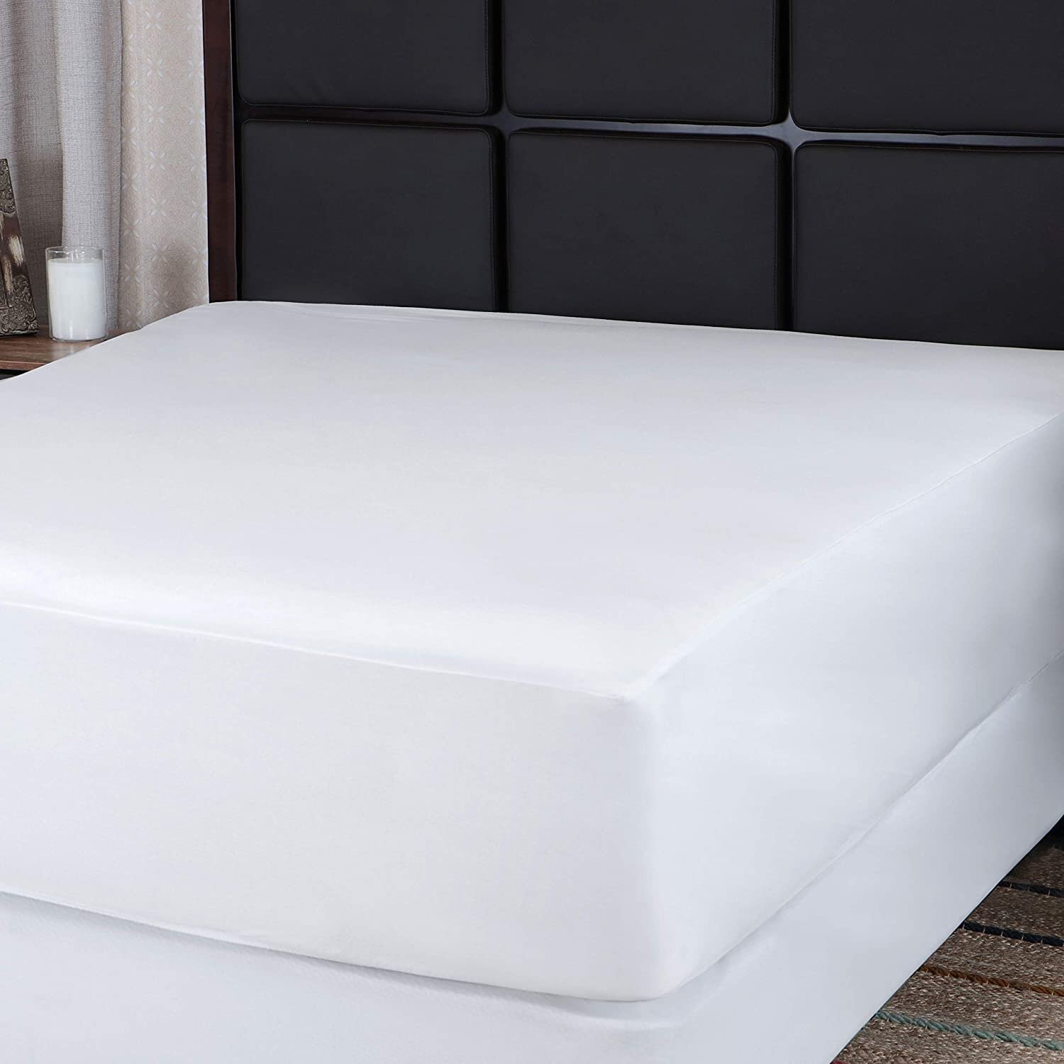 White Noise Oxford Fitted Hypoallergenic Waterproof Mattress Protector Reviews Wayfair