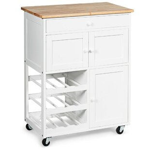 Harbuck Kitchen Cart by Rosecliff Heights