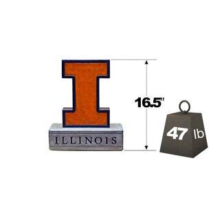 Illinois Block I Logo College Mascot Garden Stone By Henri Studio