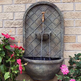Millwood Pines Tristin Polystone Electric Wall Fountain