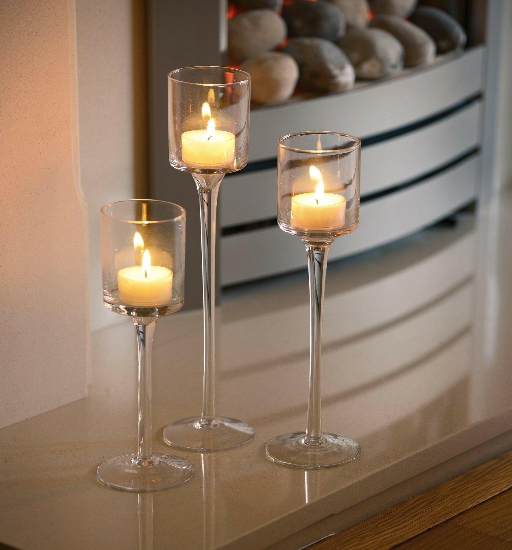 Marlow Home Co 3 Piece Glass Candlestick Set Reviews Wayfair Co Uk