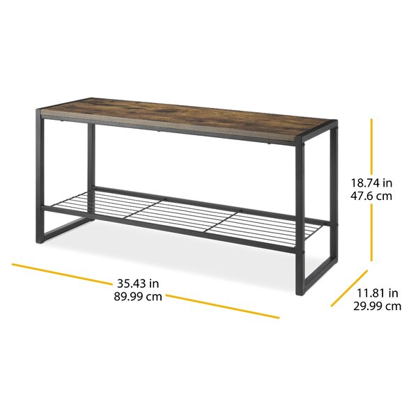 Union Rustic Stamey Manufactured Wood Bench Reviews Wayfair