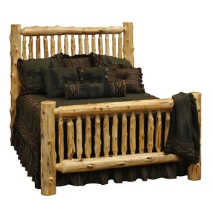 Traditional Cedar Log Panel Bed By Fireside Lodge